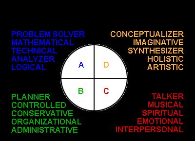 HBDI (Herrmann Brain Dominance Instrument)
